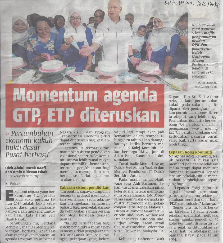 Momentum agenda GTP, ETP