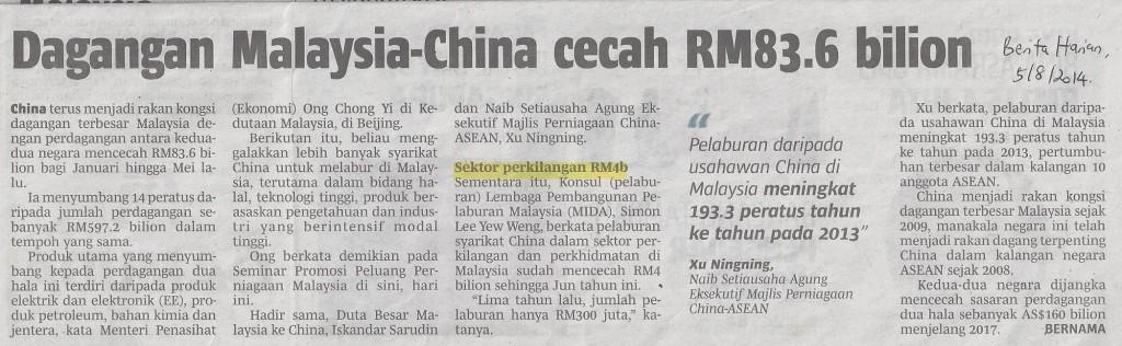 Dagangan Malaysia-China1