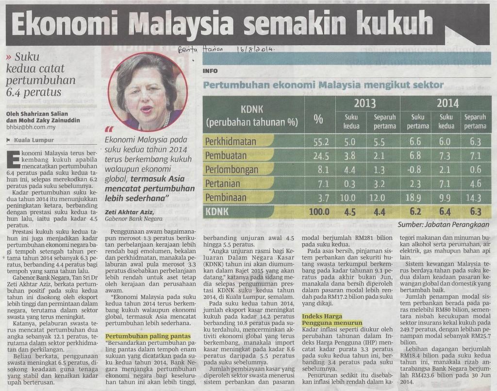 ekonomi malaysia semakin kukuh