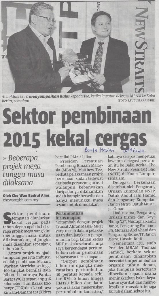 sektor pembinaan 2015